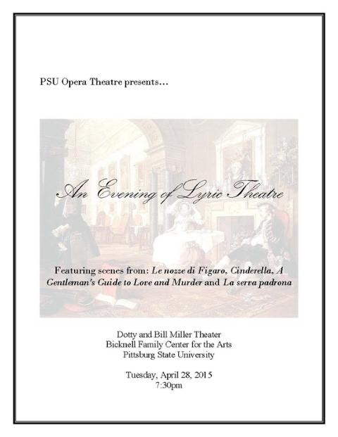 An Evening of Lyric Theatre Poster